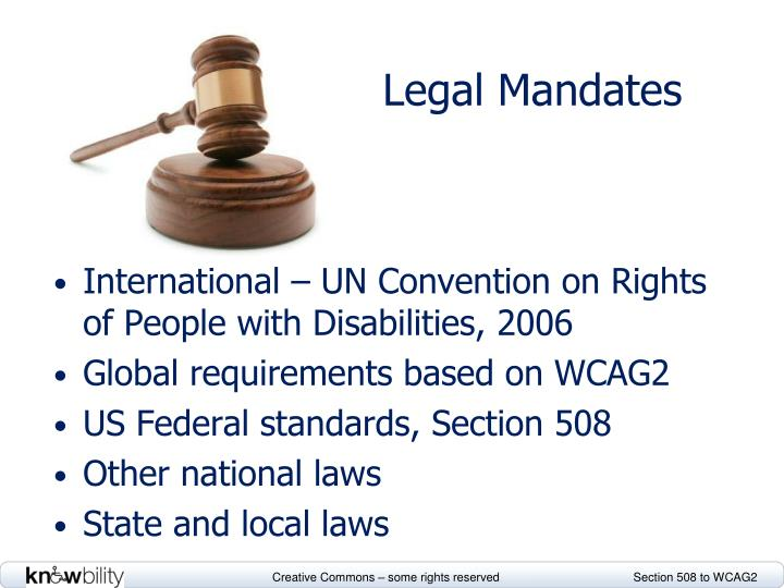 Legal Mandates