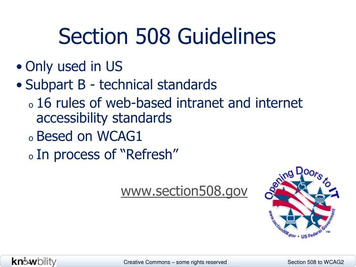 Section 508 Guidelines
