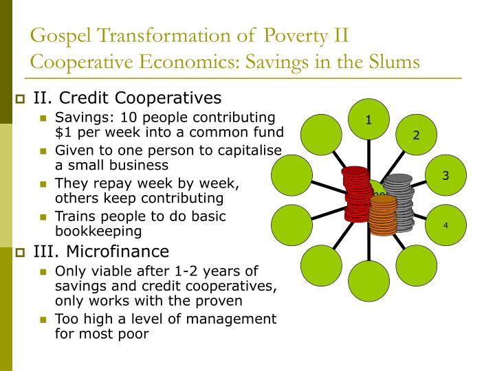Gospel Transformation of Poverty II