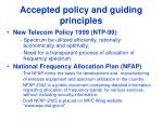 accepted policy and guiding principles
