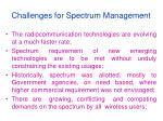challenges for spectrum management