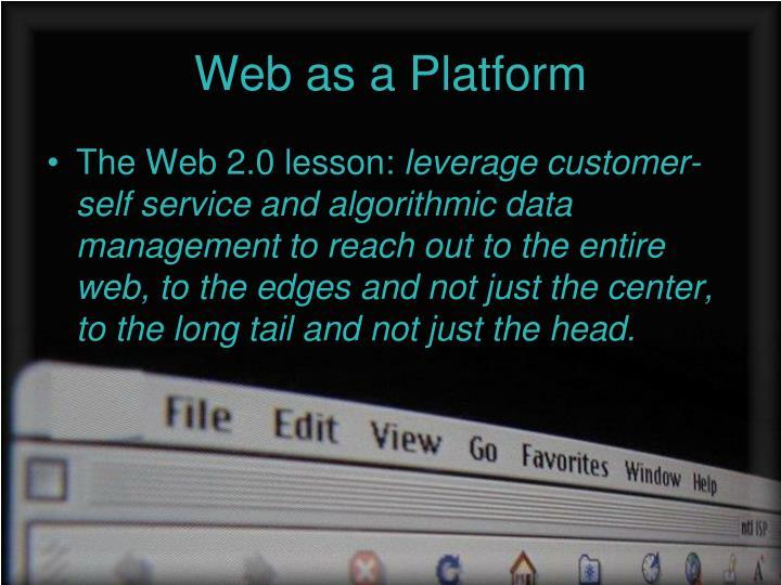 Web as a Platform
