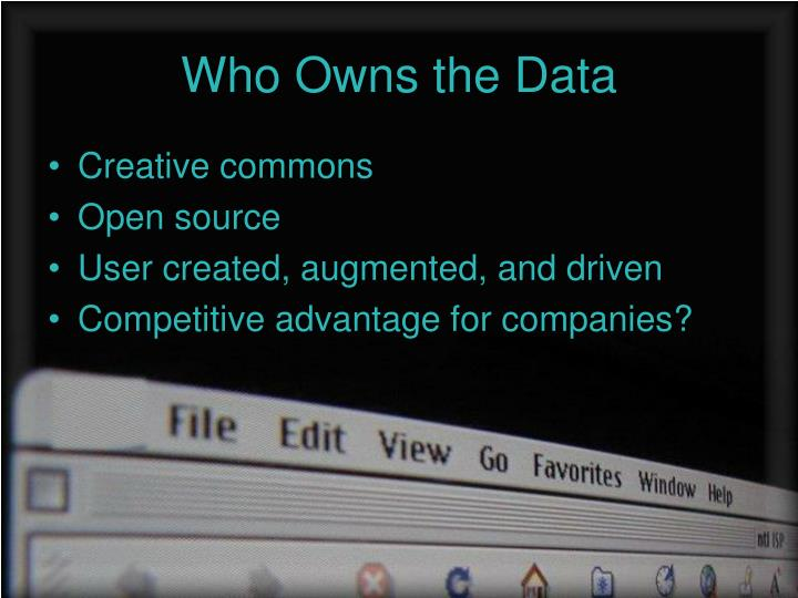 Who Owns the Data