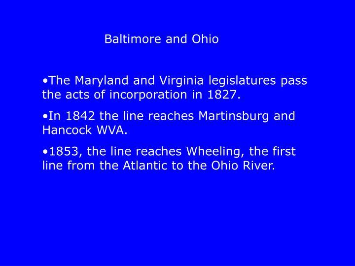 Baltimore and Ohio