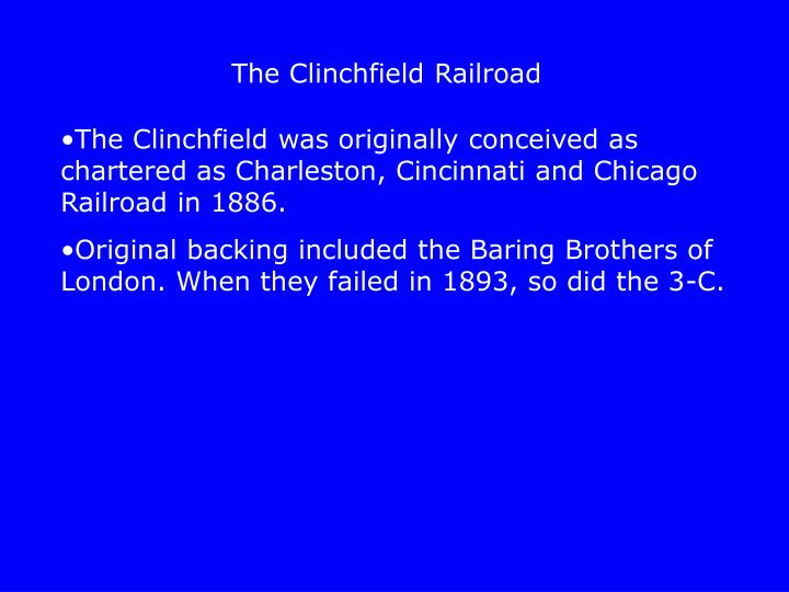 The Clinchfield Railroad