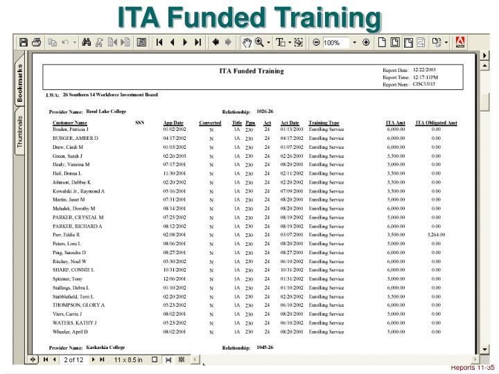 ITA Funded Training
