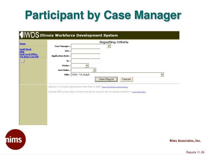 Participant by Case Manager