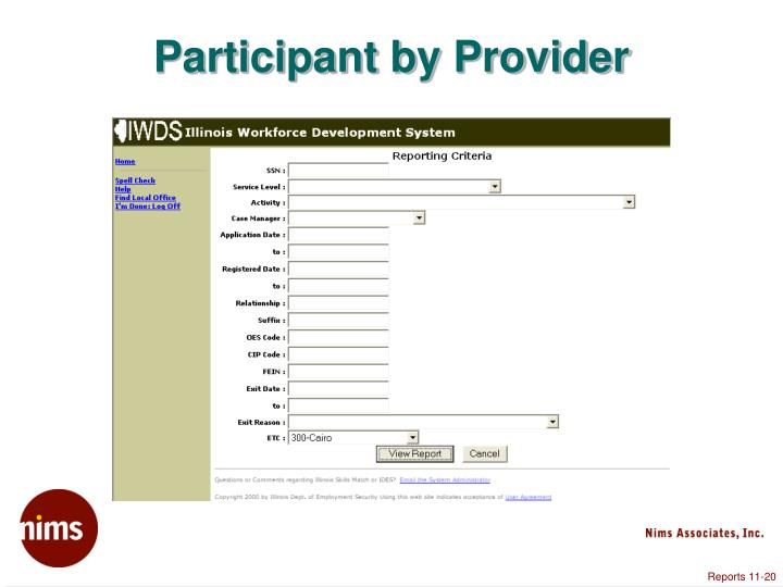 Participant by Provider