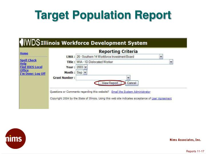 Target Population Report