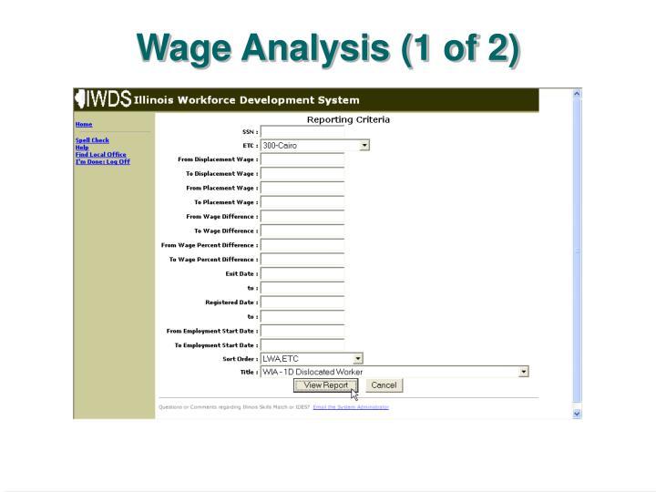 Wage Analysis (1 of 2)