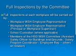 full inspections by the committee2
