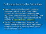 full inspections by the committee3