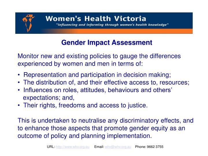 Gender Impact Assessment