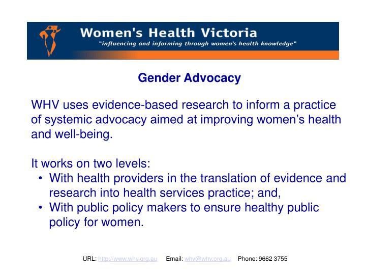 Gender Advocacy