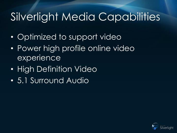Silverlight Media Capabilities