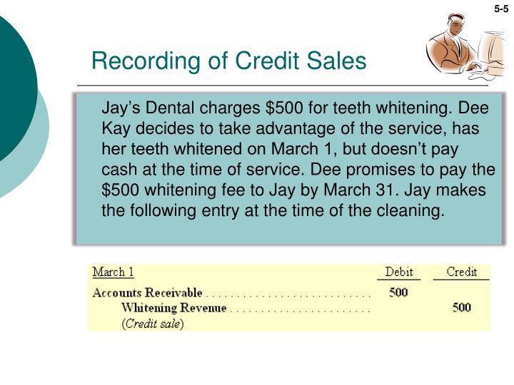Recording of Credit Sales