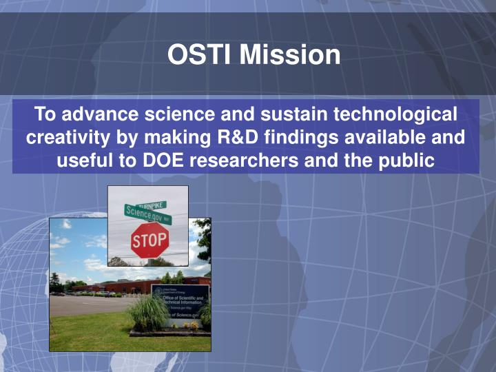 OSTI Mission