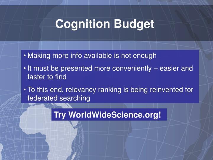 Cognition Budget