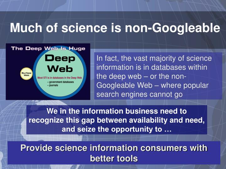 Much of science is non-Googleable