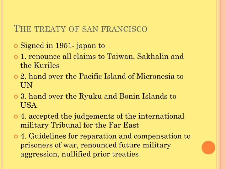The treaty of san