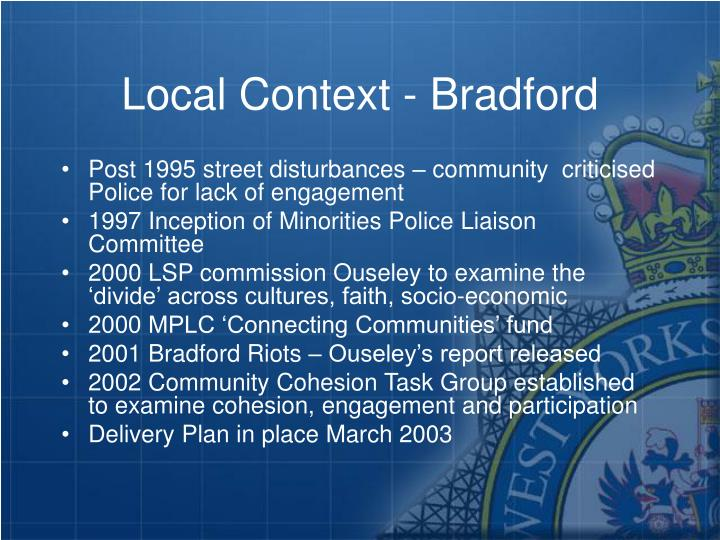Local Context - Bradford