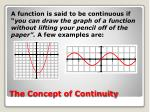 the concept of continuity