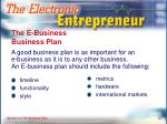 the e business business plan
