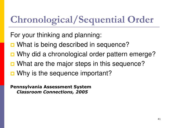 Chronological/Sequential Order