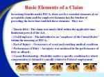 basic elements of a claim