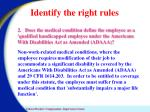 identify the right rules2