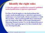 identify the right rules3