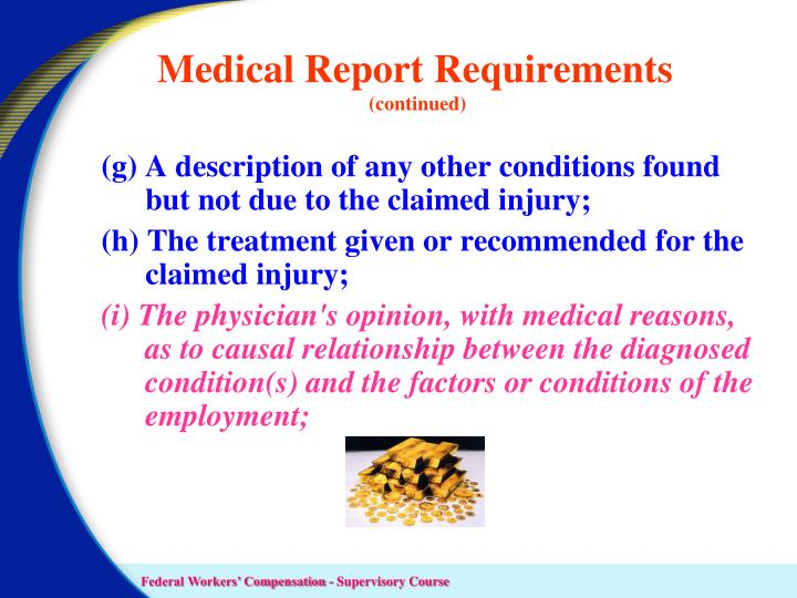 Medical Report Requirements