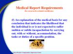 medical report requirements for non work related conditions3