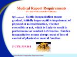 medical report requirements for non work related conditions5