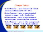 sample letters