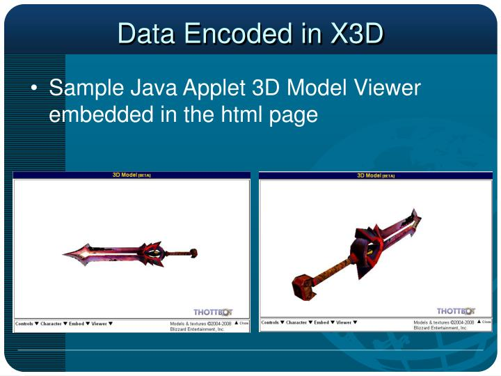 Data Encoded in X3D