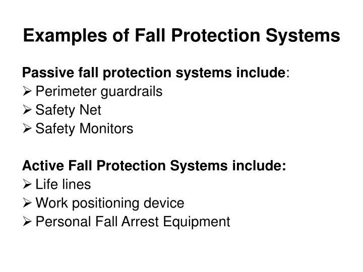 Examples of Fall Protection Systems
