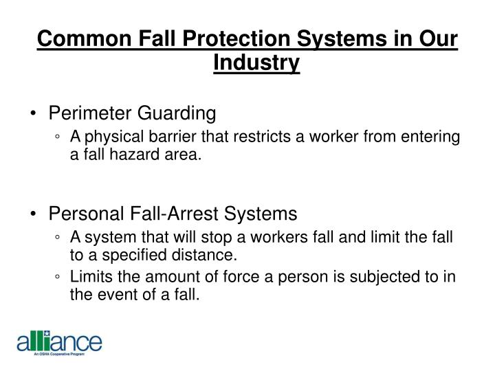 Common Fall Protection Systems in Our Industry