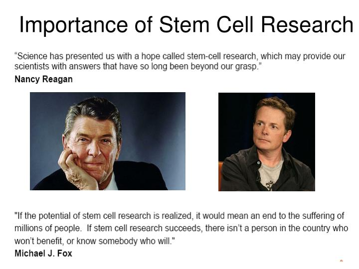 Importance of Stem Cell Research