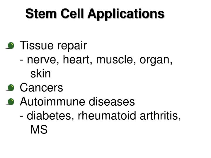 Stem Cell Applications