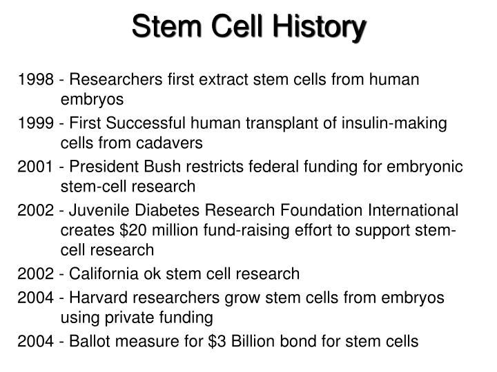 Stem Cell History