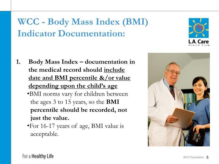 WCC - Body Mass Index (BMI)
