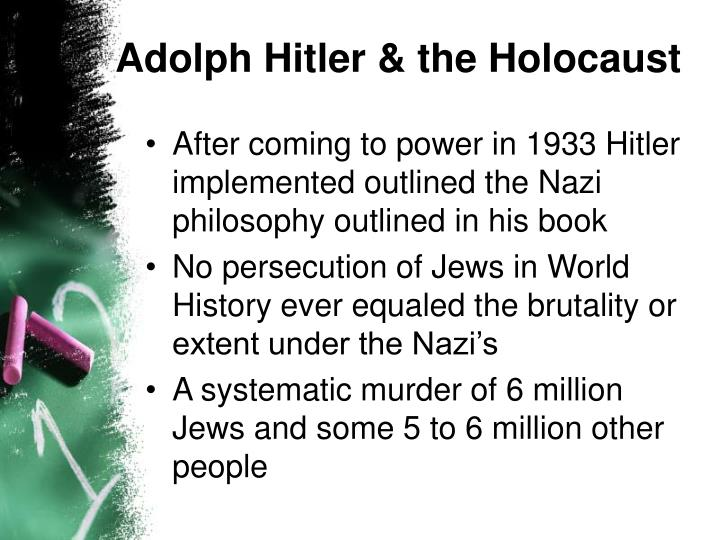 Adolph hitler the holocaust