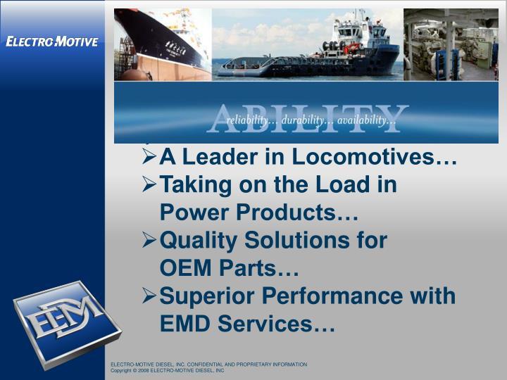 A Leader in Locomotives…