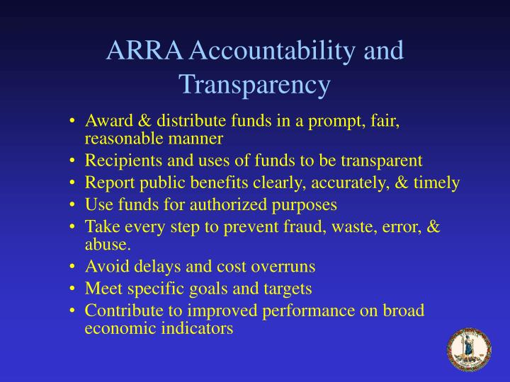 ARRA Accountability and Transparency