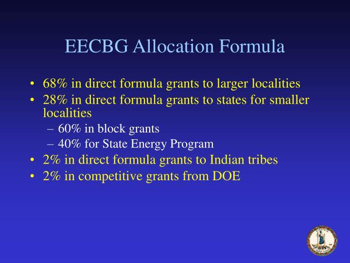 EECBG Allocation Formula