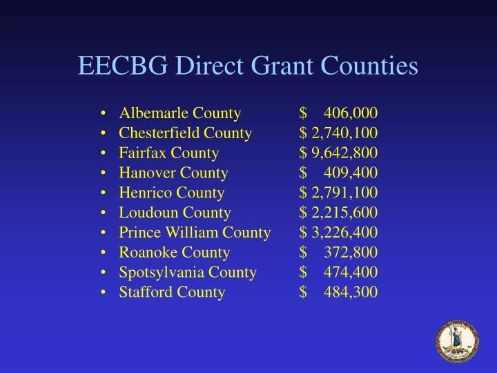 EECBG Direct Grant Counties