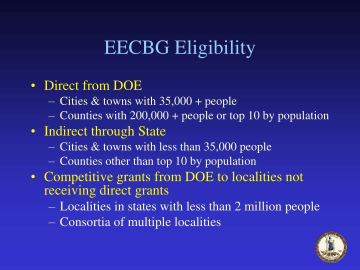 EECBG Eligibility