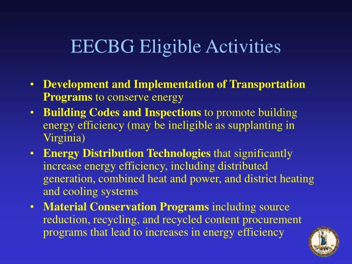 EECBG Eligible Activities