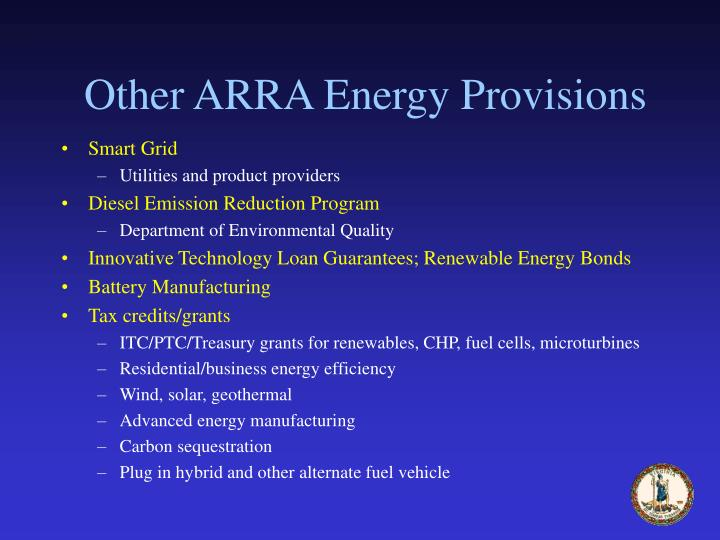 Other ARRA Energy Provisions
